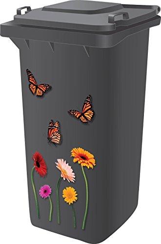 Aufkleber, hochwertiges Design, Vinyl, selbstklebend, für Mülltonnen / Wohnwagen / Kühlschränke / Haushaltsartikel (Zwerg-lilie)
