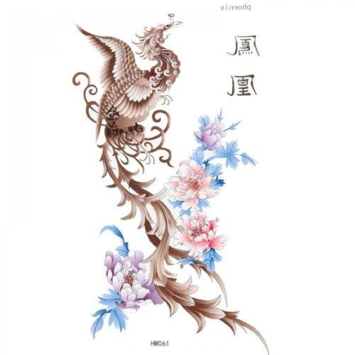 King Horse Bodypainting sexy Tattoo-Aufkleber wasserdicht männlichen und weiblichen Pfingstrose Phoenix