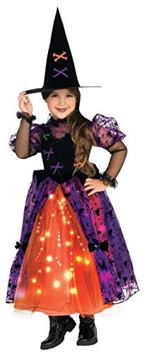 Pretty Witch Dress with fibre optic Kids Halloween Costume (Kostüme Kind Witch Pretty)