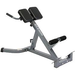 DTX Fitness Banc Hyper Extension à Hauteur Réglable - Entraine Les Muscles de Dos