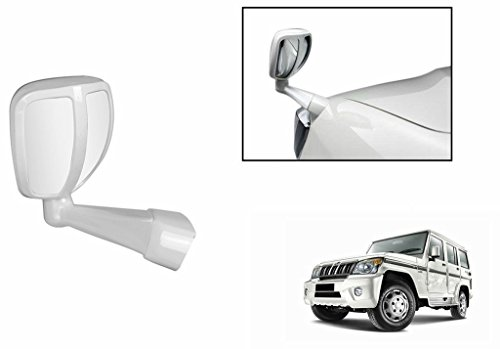 Goodway Front Fender Wide Angle Mirror (White) for Ford Figo 1.5D Base MT