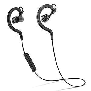 Syllable D7002017 In-Ear-Kopfhörer Bluetooth (V4.1+EDR 3 Stunden. Akkulaufzeit) Stereo kräftige Bass Headset mit Mikrofon und Ohrbügel Lauf Ohrörer für Handys iPhone iPad Laptops Tablets Smartphones