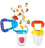 #5: Unique Ideas Silicone Fruit/Veggie & Food Nibbler - Premium Quality - BPA Free (Colour May Vary) Pack of 2