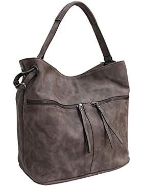 Flora & Co (Farbauswahl) Damen Handtasche PU-LEDER Beuteltasche Tasche