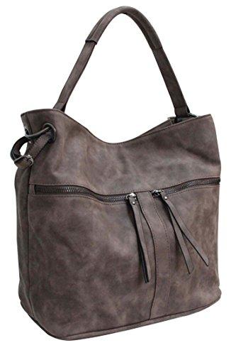 Flora & Co (Farbauswahl) Damen Handtasche PU-Leder Beuteltasche (Flora Damen Handtasche)