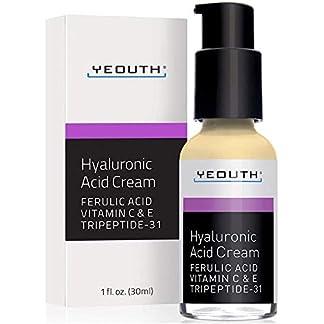 YEOUTH Crema hidratante con ácido hialurónico para piel seca, crema facial antiedad, antiarrugas.