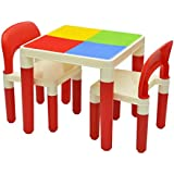 Stepupp Kids Foldable Plastic Table And Chair Set For Study And Playing Recommended For Kids Table Chair, Toodler Table And Chair, Dinning Table And Chair,kids Study Table Chair For Children Baby Table Chair (red Color)