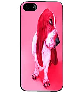 PrintDhaba Cute Dog D-3440 Back Case Cover for APPLE IPHONE 4 (Multi-Coloured)