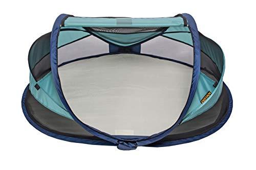 Deryan Travel-cot Baby Luxe Reisebettzelt inklusive Schlafmatte, selbstaufblasbarer Luftmatratze und Tragetasche mit Pop-Up innerhalb 2 Sekunden aufgebaut, ocean - 3