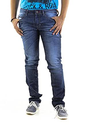 Umm Men's Cotton Straight Jeans - Indigo, (34)