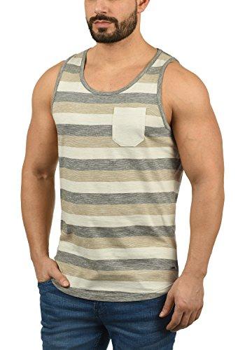 !Solid Whicco Herren Tank Top mit Rundhalsausschnitt aus 100% Baumwolle Regular Fit, Größe:L, Farbe:Dusty Oliv (3784) (T-shirt Ärmelloses Klassisches)