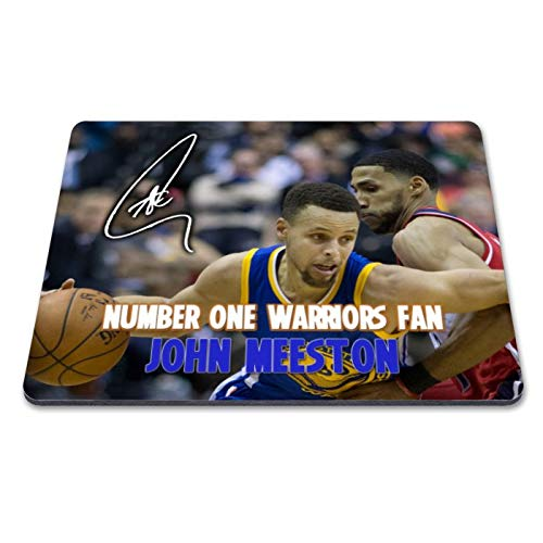 en State Warriors - NBA 2 Personalised Gift Print Mouse Mat Autograph Computer Rest Mouse Mat Compatible with Laser and Optical Mice (with Personalised Message) ()