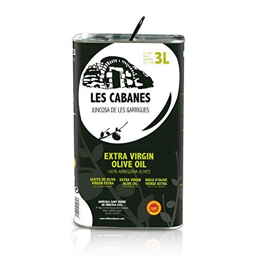 Aceite de Oliva Virgen Extra Les Cabanes - Denominación de Origen Protegida Les Garrigues - Lata 3 litros