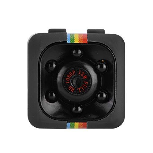 VBESTLIFE Mini Caméra de Sécurité Portable, Mini Caméra 1080P HD avec Fonction de Vision Nocturne Infrarouge + Kit de Clips de Montage + Objectif de Grand Angle de 140 Degrés(Noir)