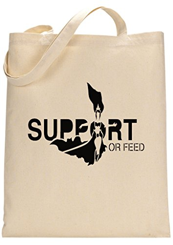 Gamer Quote Support or Feed Custom Made Tote Bag