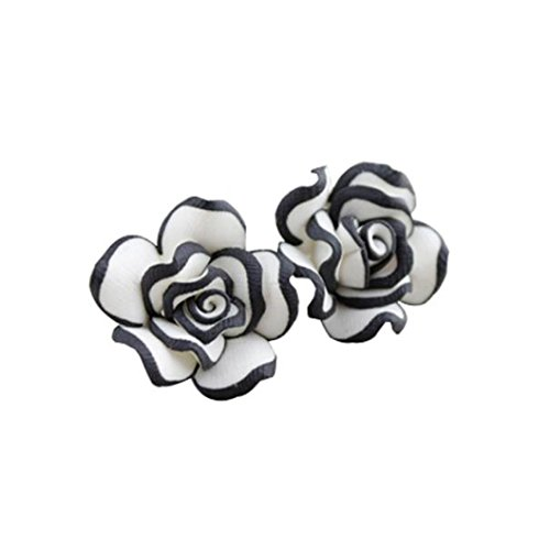 Damen Ohrringe Schmuck Ohrstecker stecker DAY.LIN Elegante nette Frauen Dame Girls Black White Rose Blumen Bolzen Ohrringe (Symbol Weiß Schuhe)