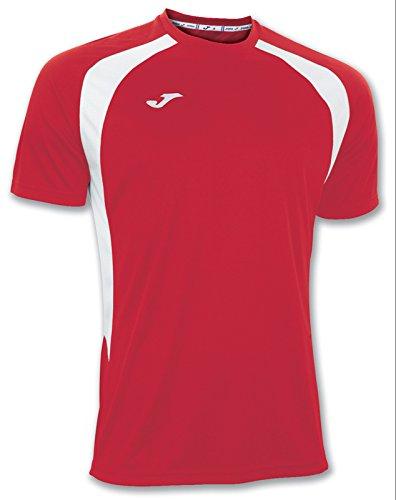 Joma 100014.602 - Camiseta de equipación de manga corta para hombre, color rojo / blanco, talla XL