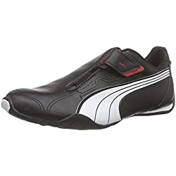Puma Redon Move, Unisex-Erwachsene Sneakers, Schwarz (black-white-high risk red 02), 43 EU (9 Erwachsene UK)