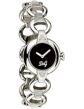 D&G Dolce&Gabbana Damen-Armbanduhr PATTERN SS BLK DIAL BRC DW0342