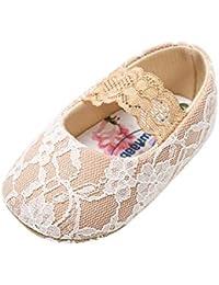 eebf1510c Miyanuby Zapatos para Bebés Niñas Cordón Suela Suave Antideslizante Mary  Jane Zapatos - Zapatitos Primeros Pasos para Niñas 0-6 Meses