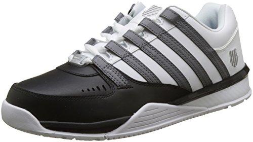 K-Swiss Herren Baxter Sneaker, Schwarz (Black/Charcoal/White), 42 EU