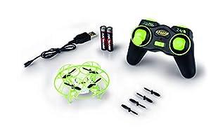Carson 500507133 500507133-X4 Nano Cage 2.4G RTF - Cuadricóptero/dron teledirigido (2,4 GHz, Incluye Pilas y Mando a Distancia), Color Verde