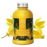 Sel de Bain Ylang Ylang 600g - Sel de Mer avec Huile Ylang-Ylang Essentielle - Meilleur pour un Bon Sommeil - Soulagement du Stress - Beauté - Bain - Soin du Corps - Bath Salts