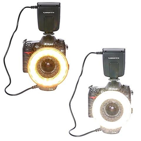 Neewer® FC-110 18 Super Professionell LED Makro Flash Ringblitz Ringleuchte Für Canon 5D MarkIII 5D MarkII 650D/T4i 600D/T3i 550D/T2i 1100D/T3 60D 7D, Nikon D7000, D3200, D3100, D5100,D5000,Olympus, Pentax SLR Kameras (geeignet für 52,55,58,62,67,72,77mm Objektive)