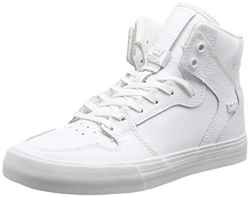 Supra Unisex-Erwachsene VAIDER High-Top, Weiß White-RED WWR), 42 EU (White High Top Supra)