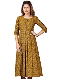 CEE 18 Women's Cotton Rayon A-Line Maternity Feeding Kurti with Zippers (10005)
