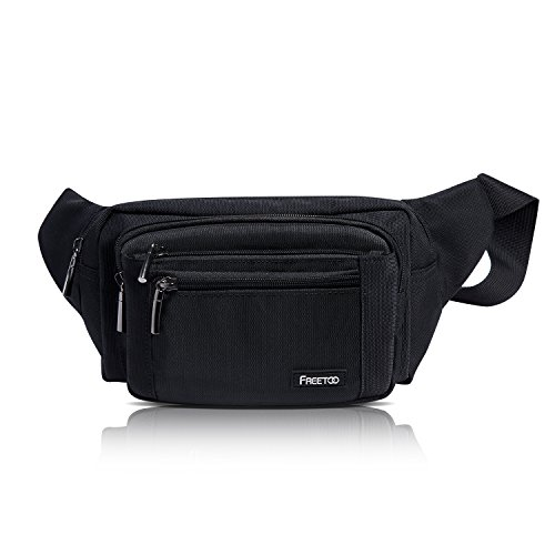 41y0lbVIGmL. SS500  - FREETOO Large Bum Bag 32.7 to 45.3 Inch Size Waist Travel Pouch Fanny Pack with 6 Zipped Pockets Ideal For Hiking Travel Holidays Festivals