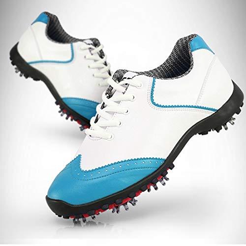 Limeinimukete Schuhe ohne Spitzen für Frauen Abriebfest Rutschfest Wasserdicht Golfschuhe Outdoor Multifunktionsschuhe, blau, 40