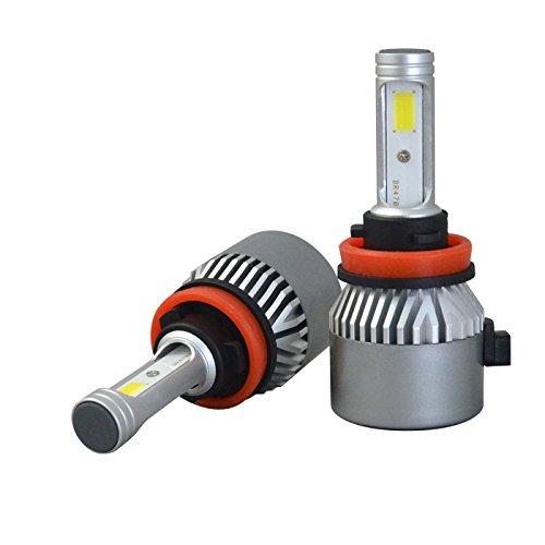 Glühbirne Amps (J & J 72W LED COB Scheinwerfer Auto Kit 12000lm 6000K Weiß Lampen Glühbirnen Abblendlicht und Fernlicht, Typ H1H7H4hohe Qualität Ring Netzteil ausziehbar für eine einfache Installation H11 H8 H9)