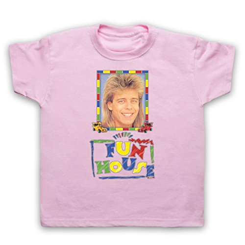 Inspired by Fun House Pat Sharp Unofficial Kids T-Shirt, Light Pink, 12-13 Years