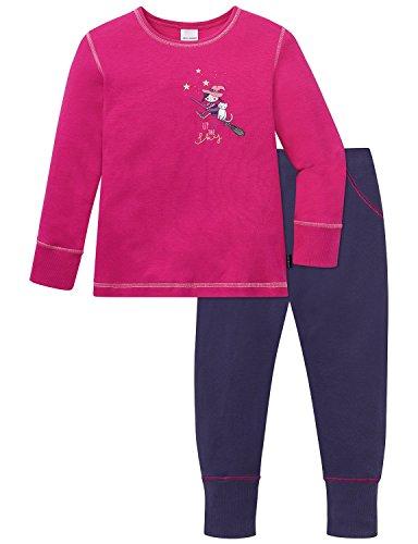 Schiesser Mädchen Zweiteiliger Md Schlafanzug Lang, Rot (Pink 504), 128