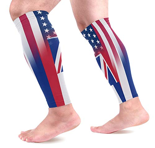 dfegyfr USA Hawaii State Flag Sports Calf Compression Sleeves Leg Compression Calf Sleeve for Runners Men Women (1 Pair)