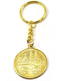 e75d4bbfba Faynci MAKKA Madina Allah 786 Golden Key Chain Gift for Ramadan, Eid,  Birthday,