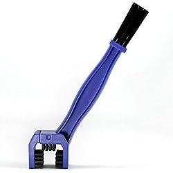 Cepillo de limpieza de bicicleta - TOOGOO(R)Cepillo de Limpieza de Mantenimiento de suciedad de cadena de Bicicleta Motocicleta Detergente Ciclo de herramientas Removedor de suciedad de frenos Azul
