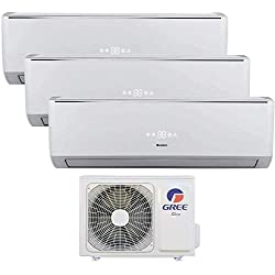 Climatizzatore inverter trial split LOMO Wi-Fi 12000 + 12000 + 12000 Btu GREE R32 classe A++/A+