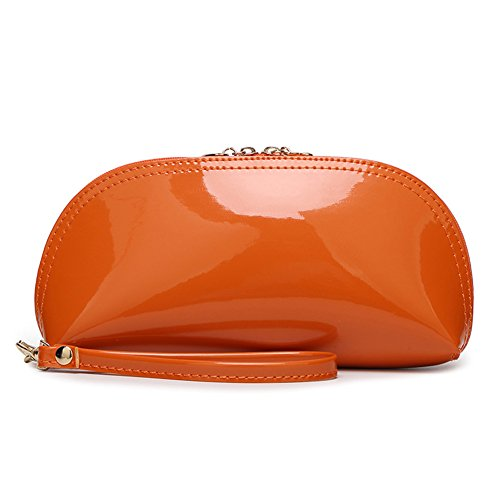 Happy Lily , Damen Handgelenkstasche, Orange (orange) - fauxpatentleatherclutchOrange Rolling Soft Cooler