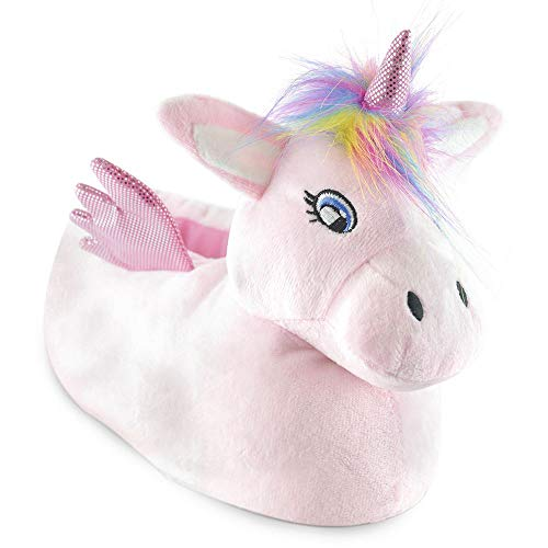 Womens Undercover 3D Soft Comfy Character Novelty Animal Unicorn Slippers