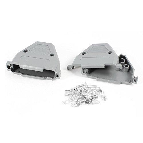 2 pezzi grigio in plastica parasole per D-Sub DB37 37 pin per Cavo dati