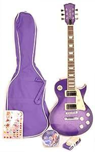 Gypsy rose - Guitare electrique - Pack elec. les paul violet ggy gre2k/v