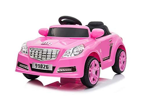 Toyas C-Sport Sportwagen Kinder Elektro Auto Kinderfahrzeug 25W Motor Pink USB und AUX Anschluss