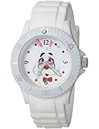 Disney Women's 'Alice' Quartz Plastic Casual Watch, Color:White (Model: WDS000363)
