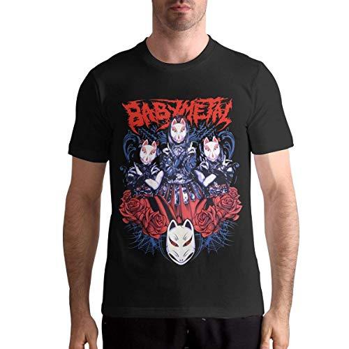 Quitelike Babymetal T Shirts Men's Tops Short Sleeved Round Neck Cotton Tee Tops Männer T-Shirts (T-shirts Benutzerdefinierte Billige)