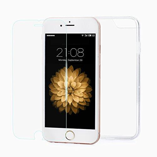 iPhone 6/6S carcasa protectora PC Back con contorno de protección de silicona...
