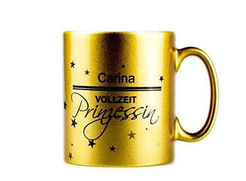 True Statements Tasse Dein Name - Vollzeitprinzessin - Personalisierte Kaffeetasse/Teetasse mit...