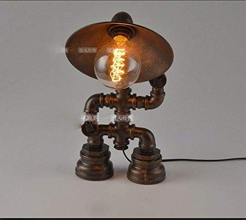 DHG Tischlampe-American Wasserdichte persönliche Bar Platzierung Lichter Bett Kunst Roboter Schlafzimmer Schreibtisch Restaurant Cafe Lampen