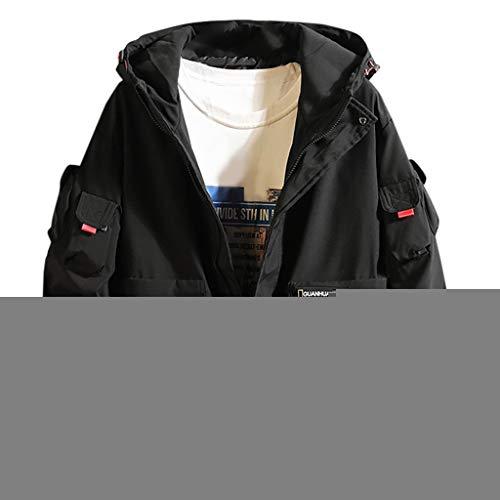 Windjacke Herren, ABsoar Winter Mantel Mode Multi-Taschen Übergangsjacke Männer Kapuzenpullover Motorrad Rocker Kapuzenjacke Mode Outwear Schutzjacken Freizeit Hoodies